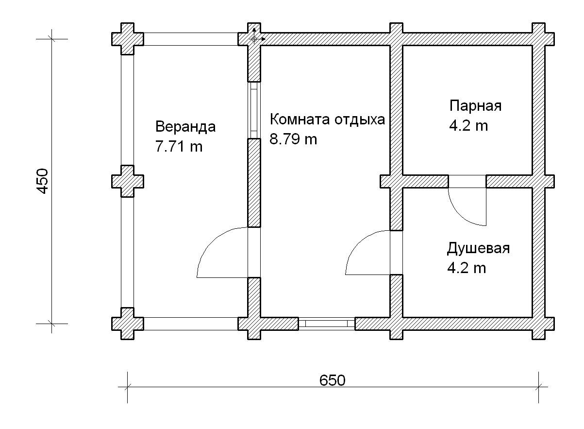 Все о банях размером 3х3