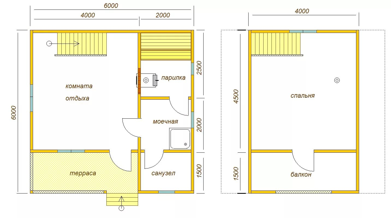 Каркасная баня 6х4 – особенности проектирования и строительства. Проекты бань 4х6: особенности, используемые материалы, выбор расположения, удачные решения